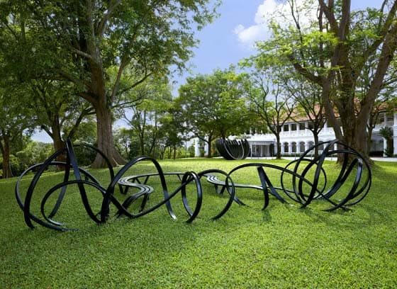 Unique Pablo Reinoso Sculpture installed at Capella Singapore