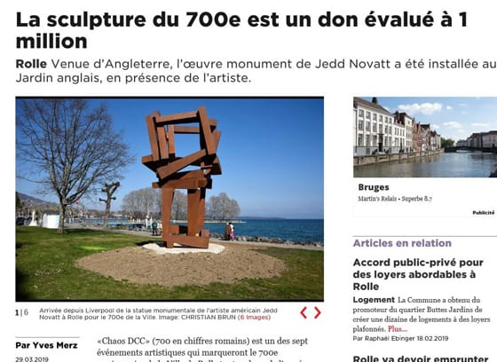 La sculpture du 700e est un don évalué à 1 million